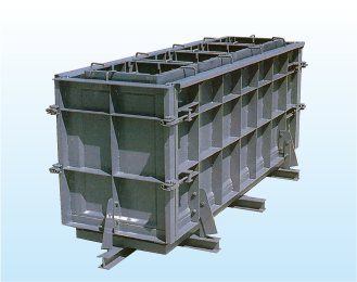 Form of oil-water separation tank with 4-side hinge method with double fall-preventive parts